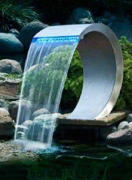 Wonderbaar Ubbink Mamba RVS Waterval met led verlichting TL-06