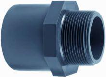 Pvc Puntstuk met buitendraad 32 mm. x 1 inch (druk pvc-pe)