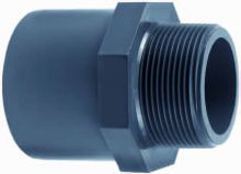 Pvc Puntstuk met buitendraad 63 mm. x 2 inch (druk pvc-pe)