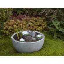 AquaArte Mini Pond Round Grey Waterornament