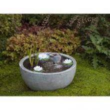 AquaArte Mini Pond Round Grey Waterornament