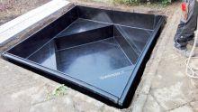 HDPE Special vierkante vijver met ruitvorm met plateau