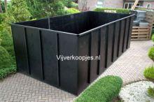 HDPE vijver 200 x 200 x 100 hoog