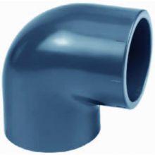 Pvc bocht 90gr. 110 mm. (druk pvc-pe)