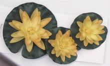 Waterlelie geel set van 3 stuks