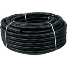 Zwarte spiraalslang 25 mm.
