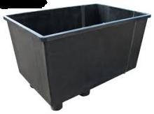 Visbassin Polyestherm Zwart 1650 liter