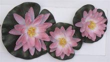 Waterlelie rose set van 3 stuks